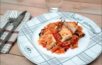 filet de poulet et riz à la méridionale