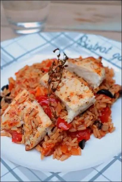 poulet riz legumes