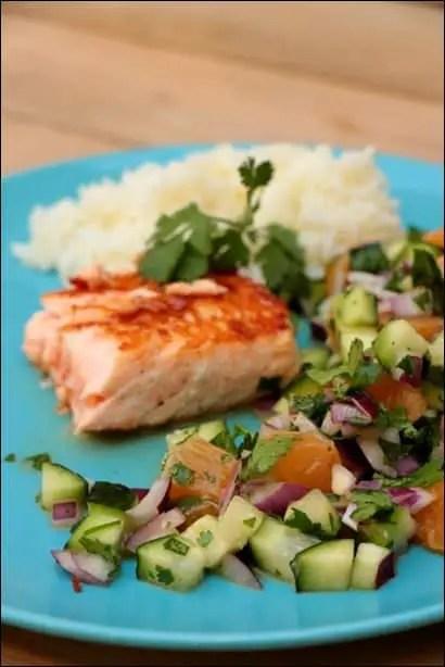 saumon a la sauce salsa
