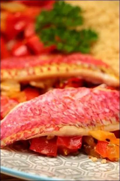 filet de rouget poivrons rouges