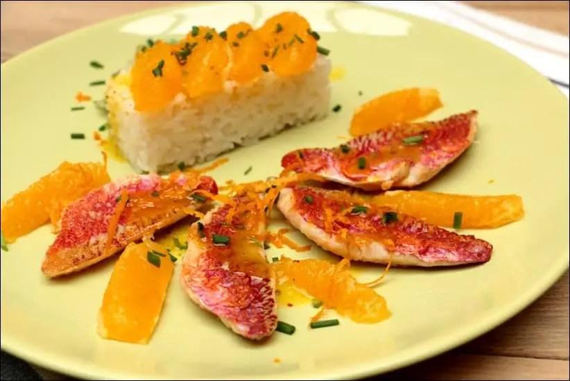 filet de rouget orange recette