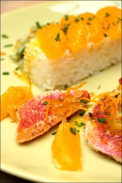 recette filet rouget orange