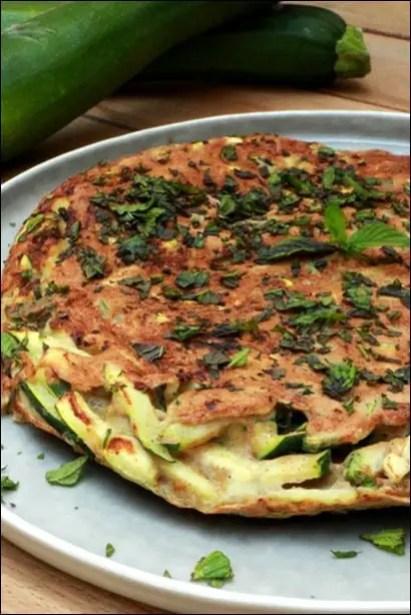 omelette courgette sarrasin