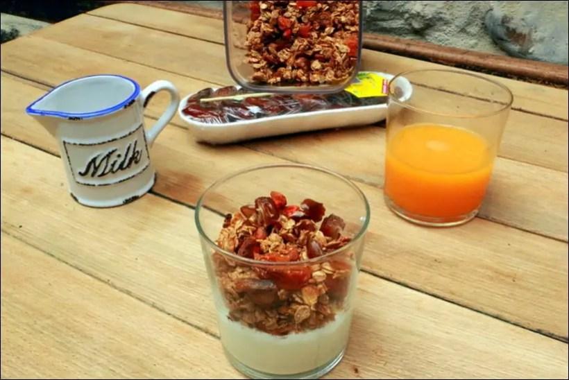 granola amandes abricots dattes