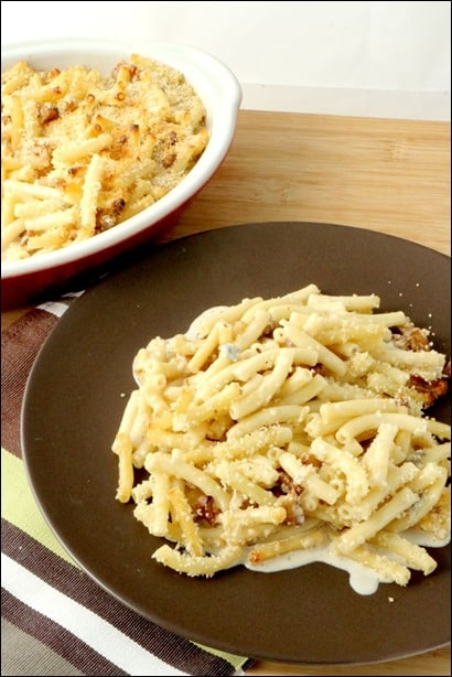 gratin de macaroni creme gorgonzola