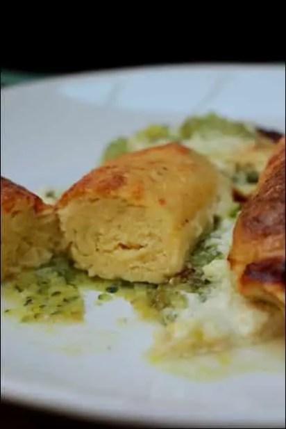 quenelles courgette parmesan