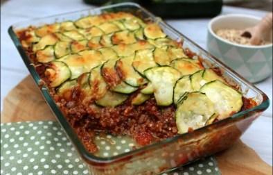 gratin de quinoa aux courgettes façon parmentier