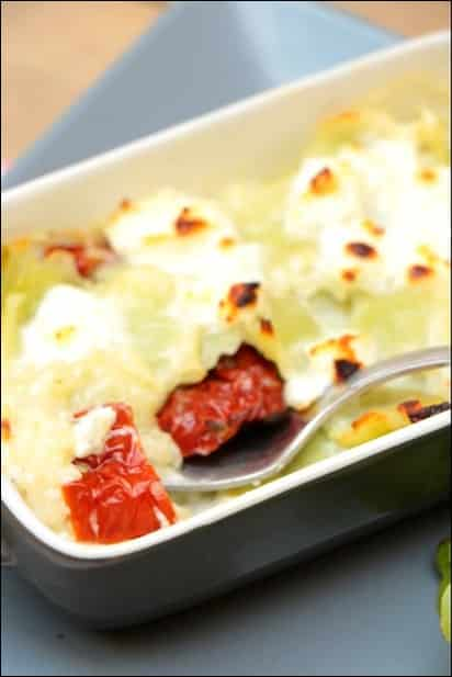 gratin ravioles tomates séchées