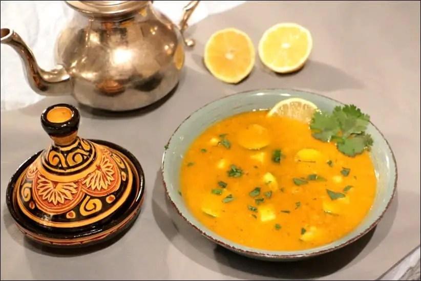 soupe pois chiche maroc