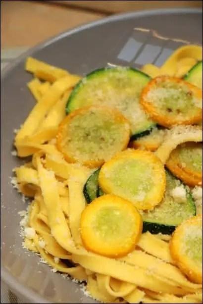 pates courgettes parmesan