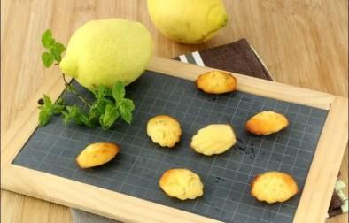 madeleines au citron et à la menthe