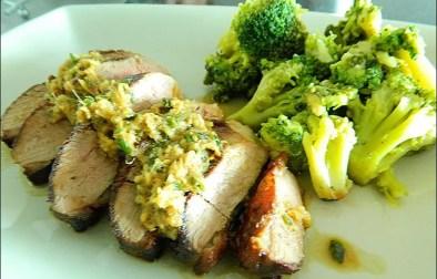 magret grillé et sauce gingembre et wasabi