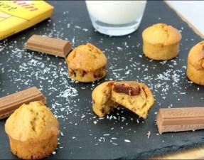 muffins noix de coco et pralinoise