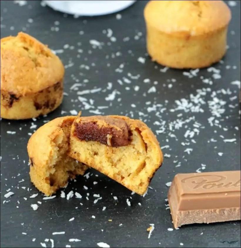 muffins coco praliné