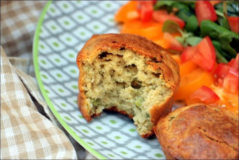 muffin petit pois menthe