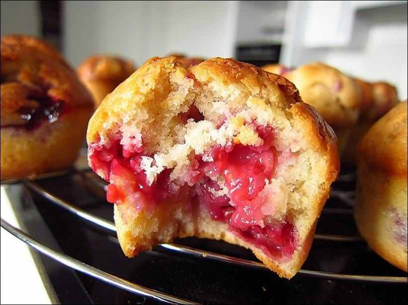 muffins framboise et yaourt