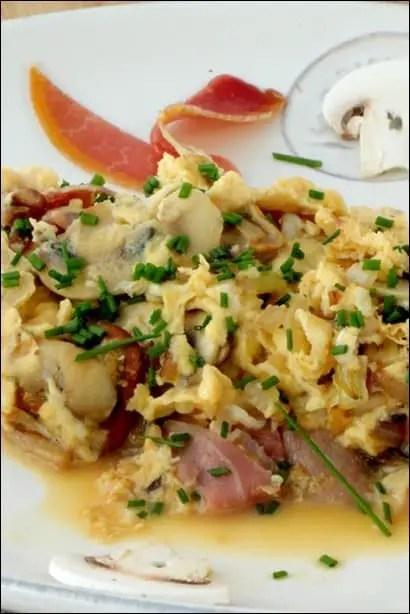 omelette jambon champignon