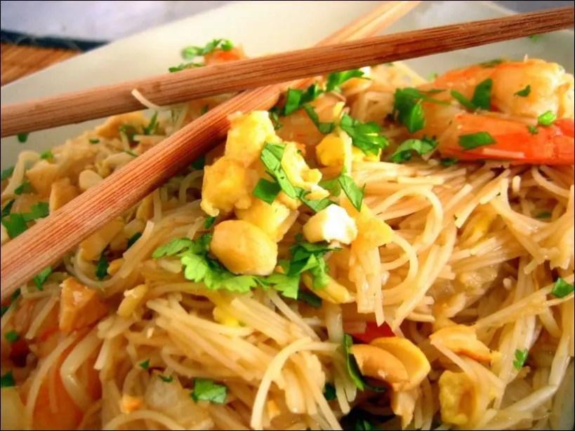 pad thai crevettes recette