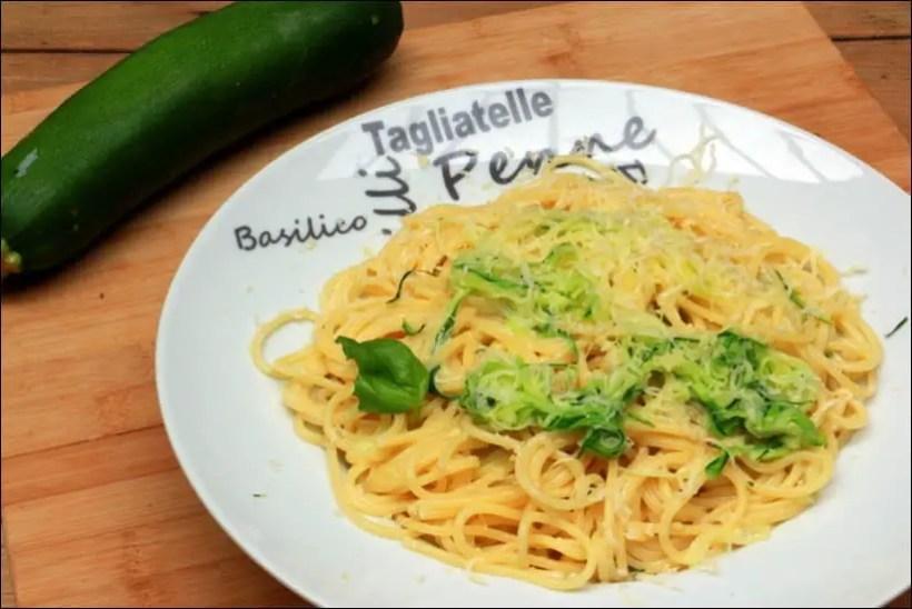 pates courgettes parmesan basilic