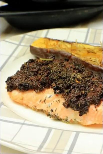 saumon croute olives