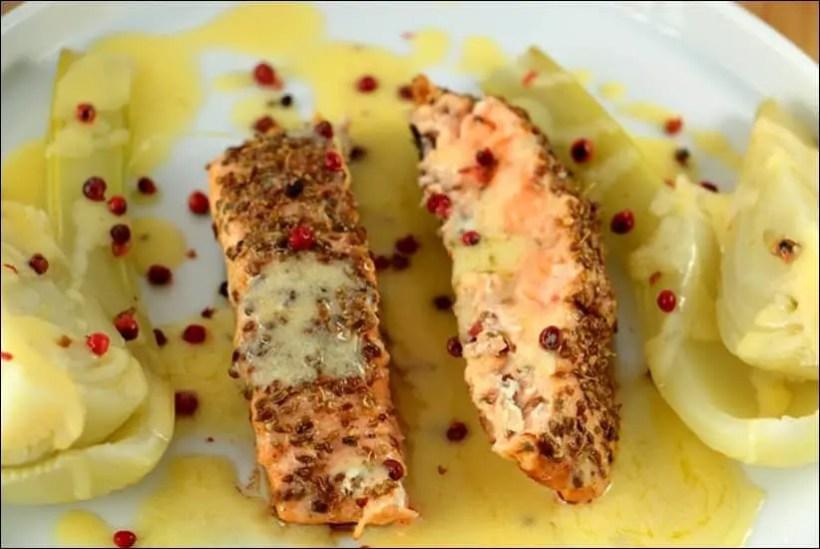 saumon fenouil vin blanc