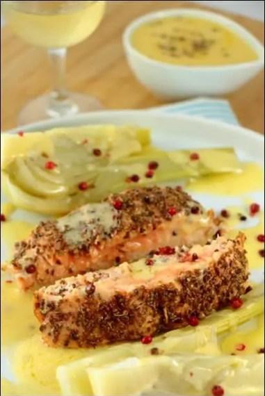 saumon bulbe de fenouil