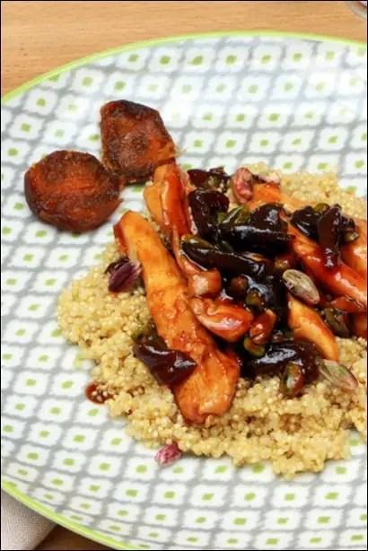 poulet quinoa et miel