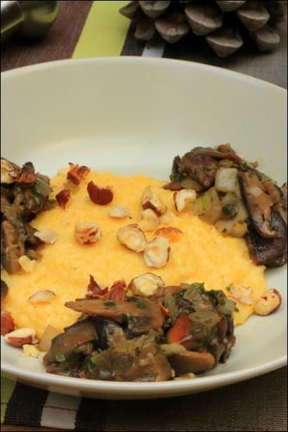 polenta noisettes beaufort champignons