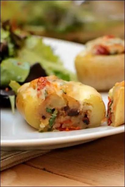 pomme de terre farcie et gratinée