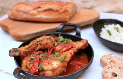 poulet au gingembre et coriandre fraîche
