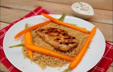 poulet grillé aux carottes