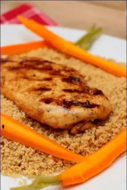 poulet grillé carottes couscous