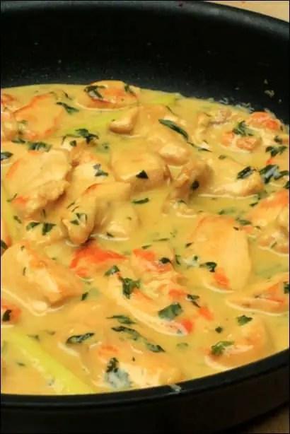 poulet lait de coco basilic