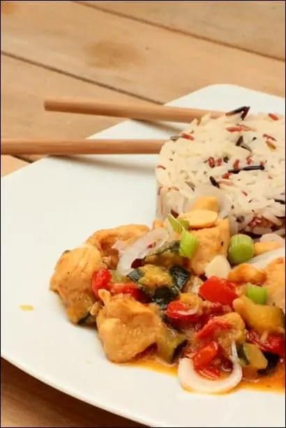 poulet satay cacahuete