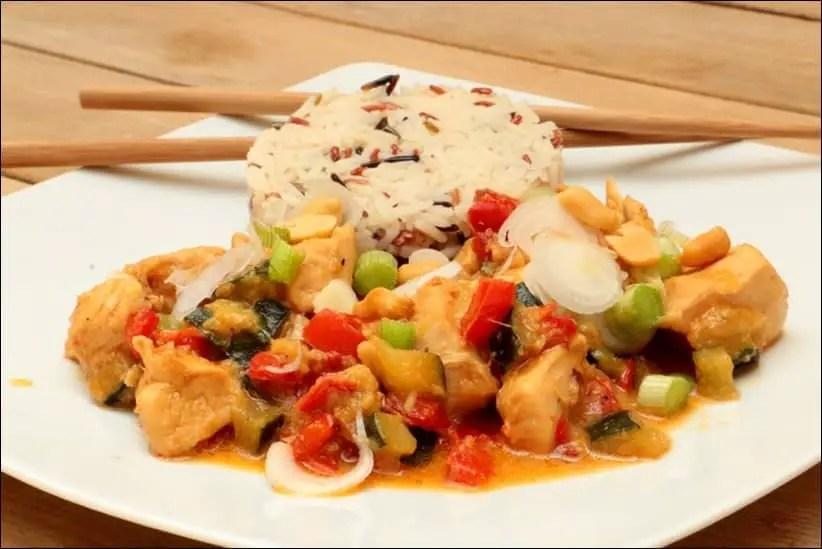 poulet sauce satay
