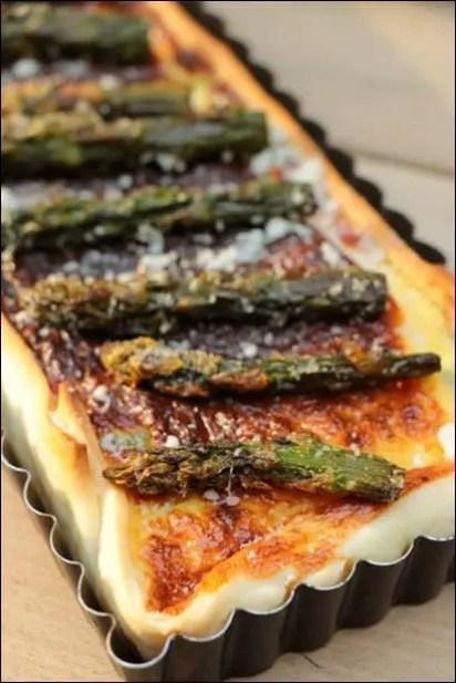 recette quiche asperges parmesan