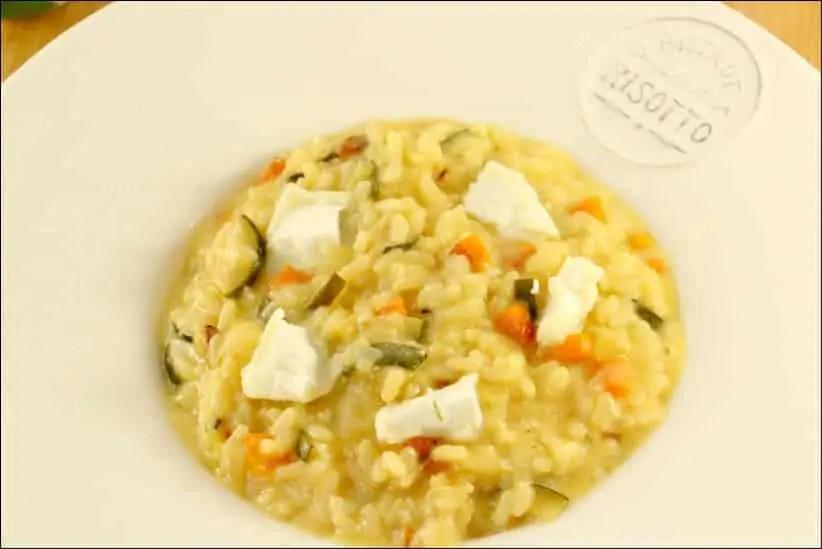 risotto légumes chevre