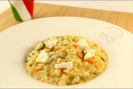 risotto aux petits légumes et au chèvre