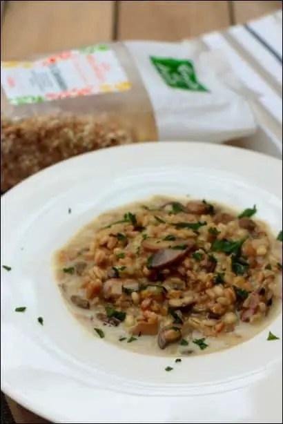 risotto cereales champignons