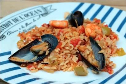riz moules crevettes calamars