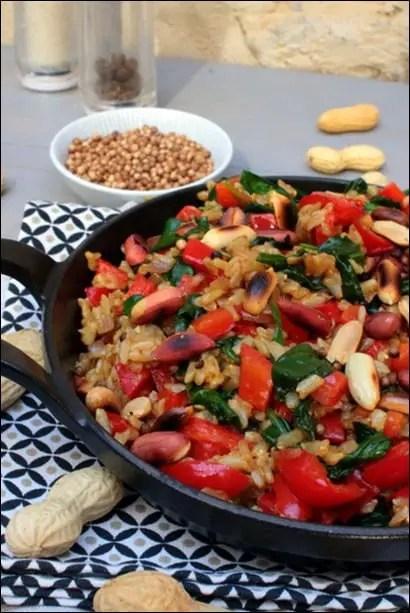 riz poivron épinards