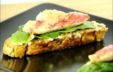 rouget grillé sur pan con tomata et jeunes pousses d'épinard de Lionel Giraud