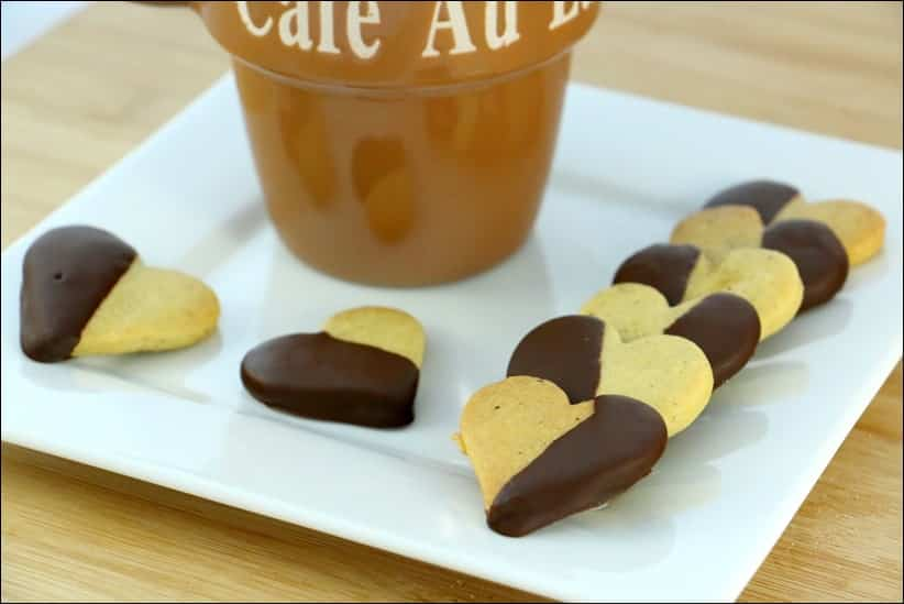 sablés à la pistache et au chocolat