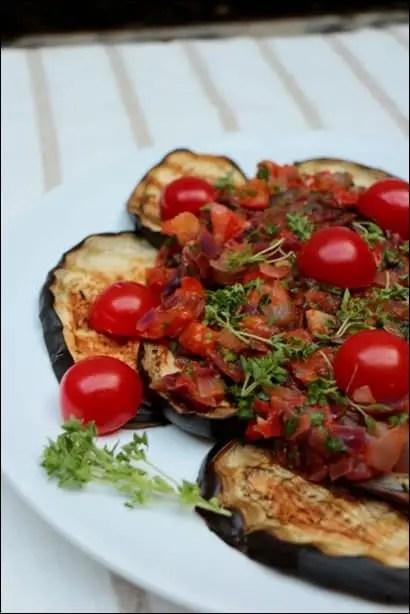 salade aubergine grillée