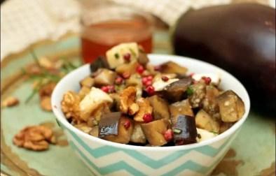 salade d'aubergine à la mozzarella et romarin