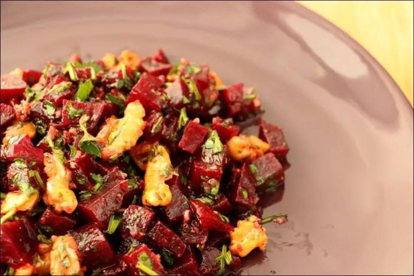 salade betterave noix