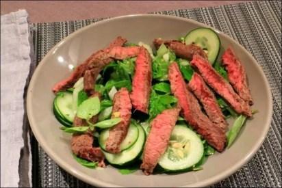 salade de boeuf au basilic