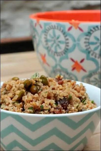 salade boulgour pistaches