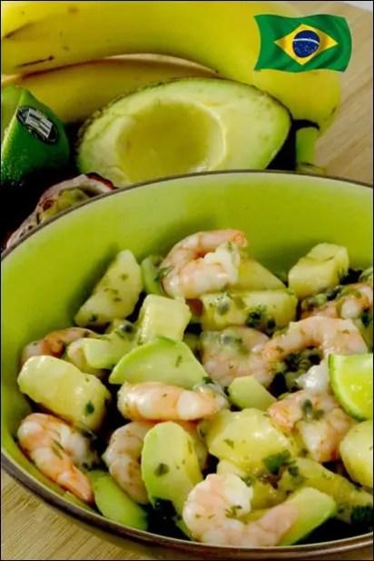 recette salade crevette/avocat fruits
