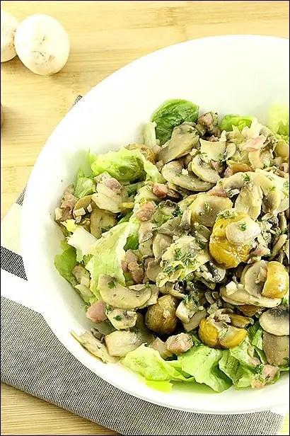 salade chataigne lardon